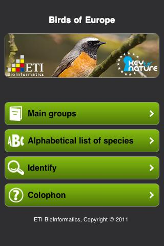 Birds of Europe - screenshot