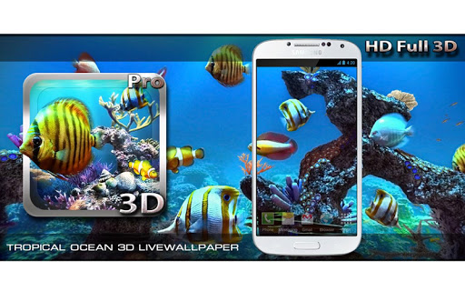 Tropical Ocean 3D LWP app for Android screenshot