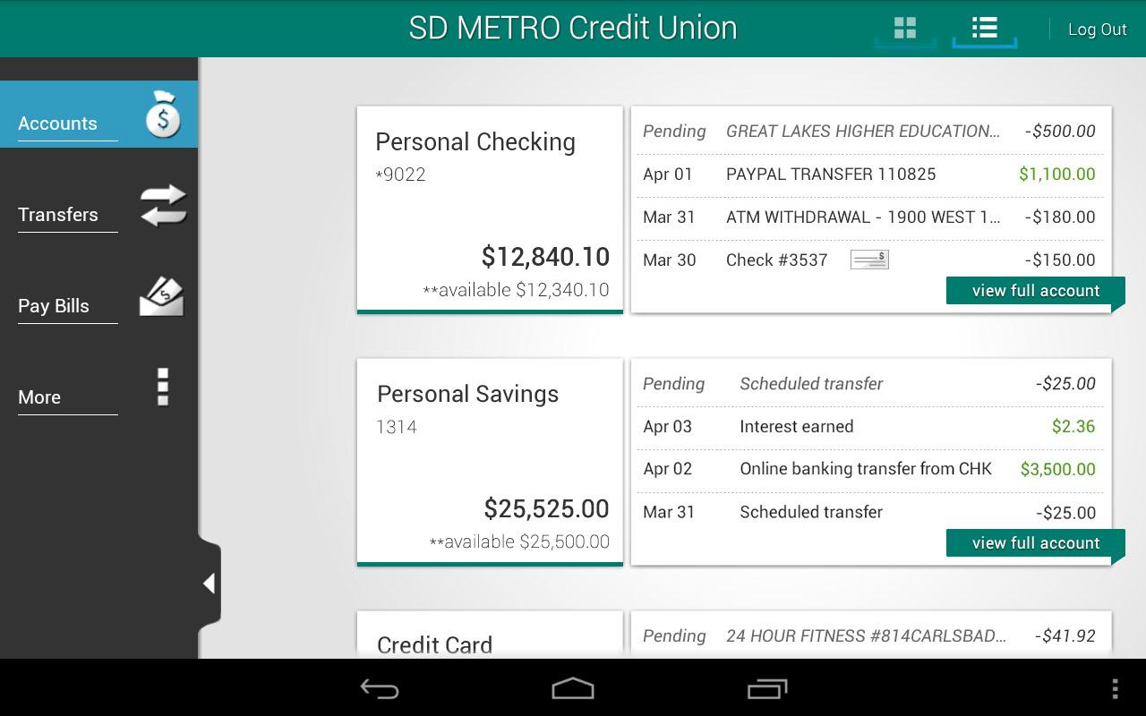 SD METRO Credit Union - screenshot