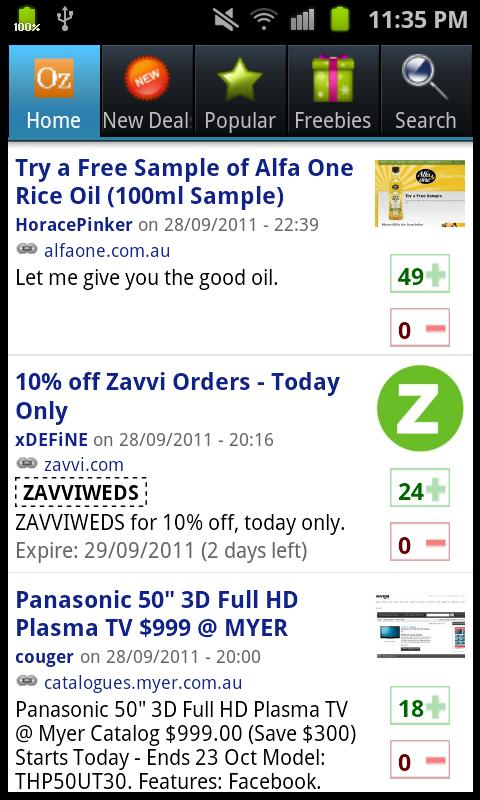 OzBargain Plus - screenshot