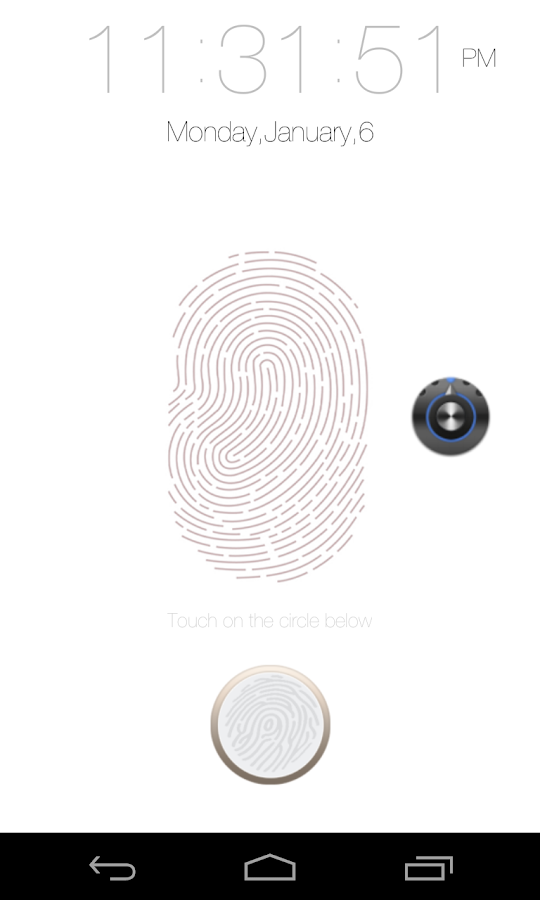 Fingerprint Lock Screen - screenshot