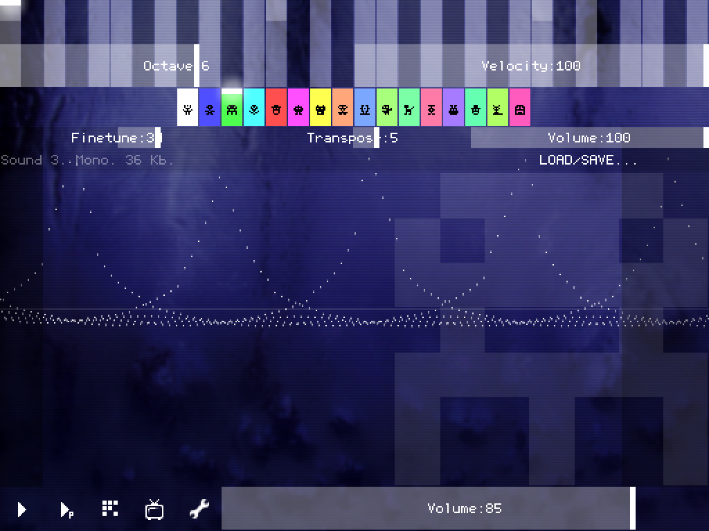 PixiTracker 1Bit (demo)- screenshot
