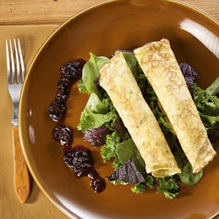 Herb Crepes with Wild Mushrooms.