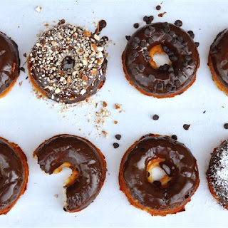 Chocolate Chip Doughnuts with Chocolate Glaze (Grain Free).