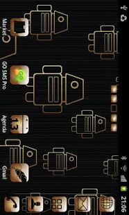 My Gold theme GO launcher EX- screenshot thumbnail
