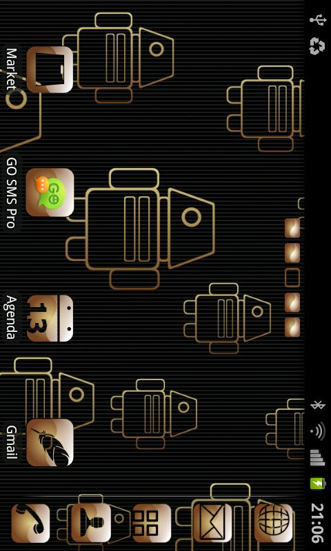 My Gold theme GO launcher EX- screenshot