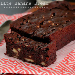 Chocolate Banana Bread with Marshmallow Bits.
