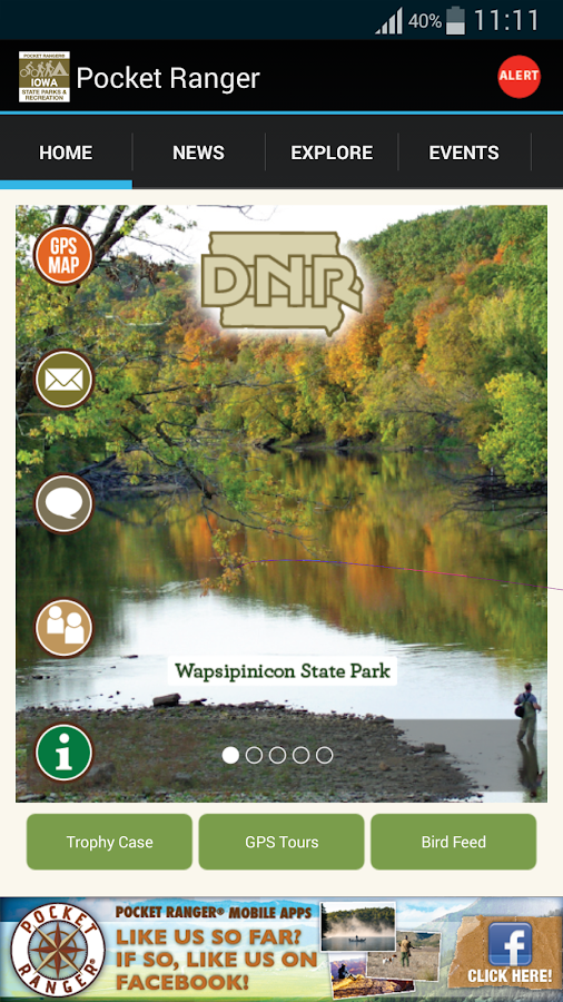 IA State Parks Guide- screenshot