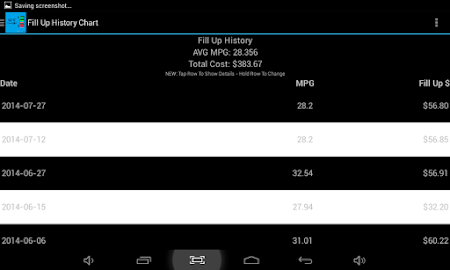 MPG Tracker 3.1.1 screenshot 2015336