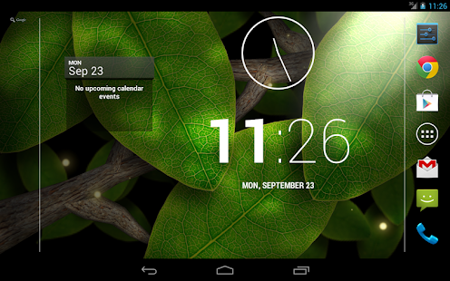 Tap Leaves Live Wallpaper