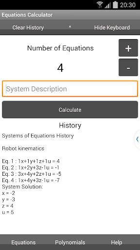 Equations Calculator
