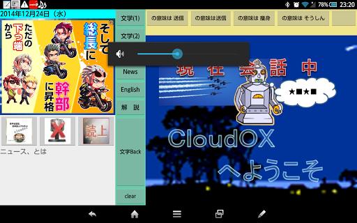 cloud35音声会話型 記事読上げロボット
