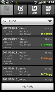 FuelLog - Car Management