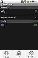Screenshot of PCO2 Equation Calculator