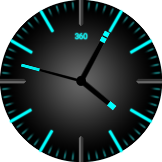 Cyan Glow Watch Face