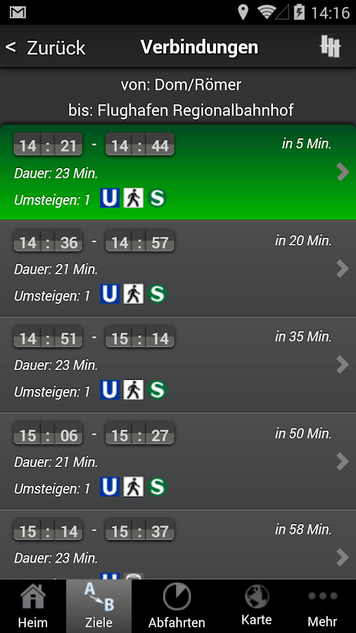 A+ Frankfurt Trip Planner - screenshot