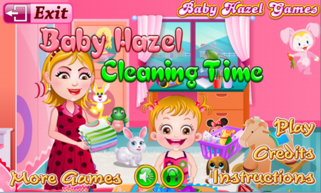 baby hazel cleaning time screenshot