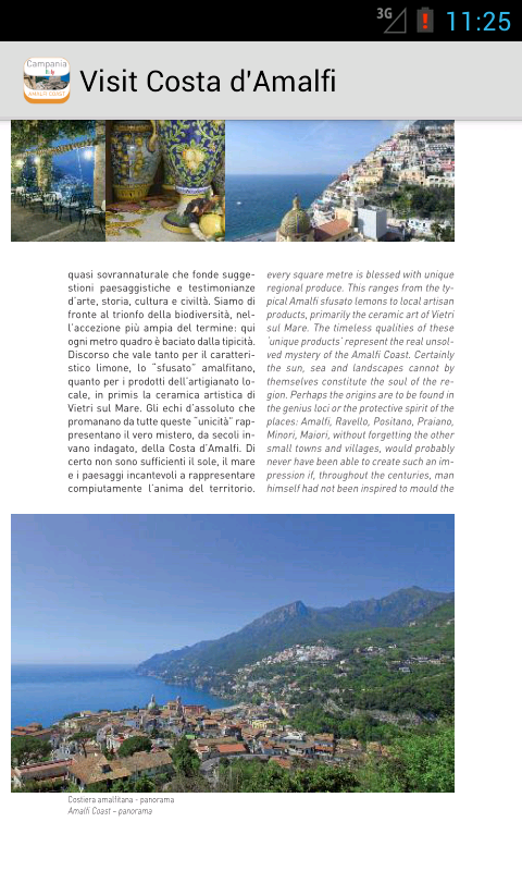Visit Costa d'Amalfi - screenshot