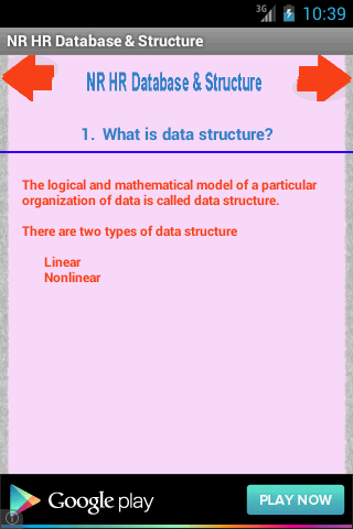 NR HR Database Structure
