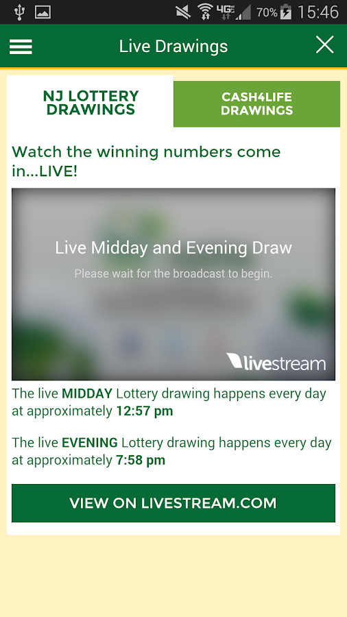 New Jersey Lottery- screenshot