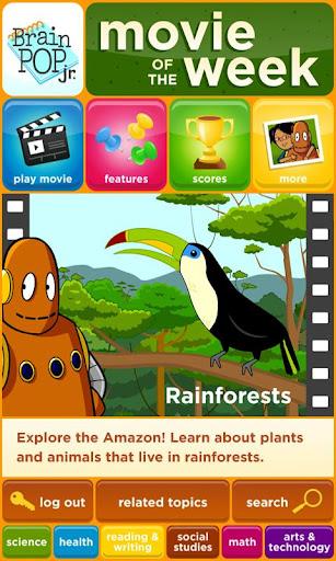 BrainPOP Jr. Movie of the Week screenshot