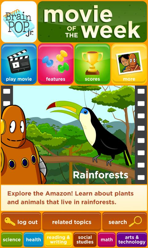 BrainPOP Jr. Movie of the Week - screenshot