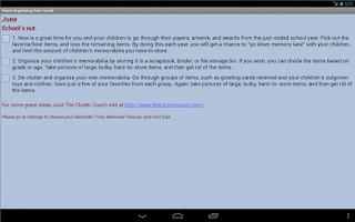 Screenshot of Home Organizing Year-round