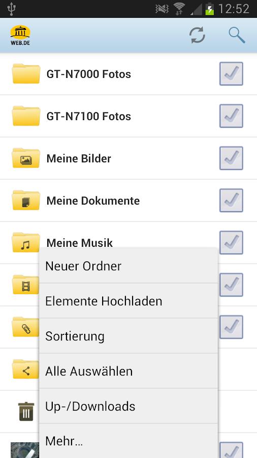 WEB.DE Online-Speicher - screenshot