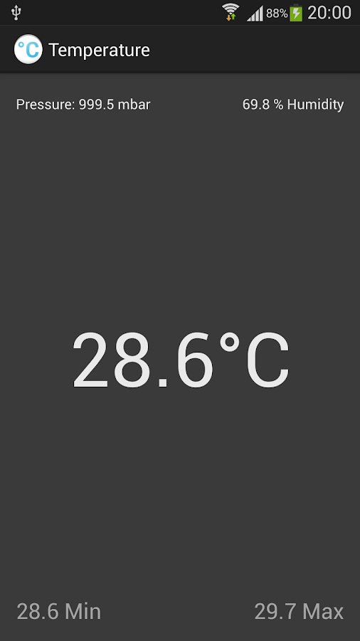 Ambient Temperature - Galaxy - screenshot