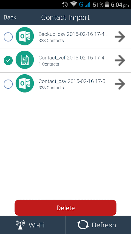 Contacts Kit - Backup/Import- screenshot