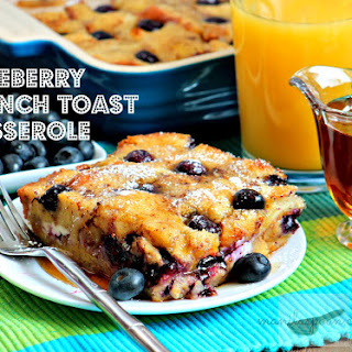 Blueberry French Toast Casserole.