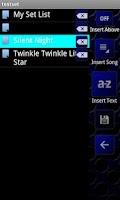 Screenshot of Lyric Pad FREE.