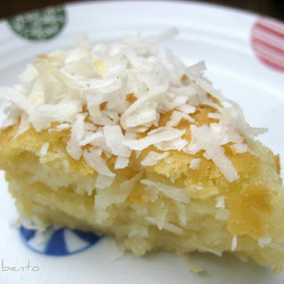 Butter Mochi with Coconut