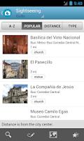 Screenshot of Ecuador Travel Guide