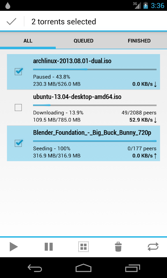Flud - Torrent Downloader - screenshot