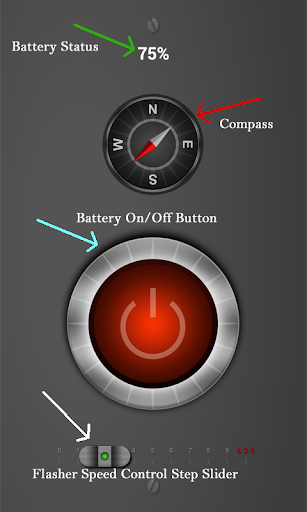 Flashlight Compass Battery