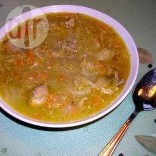 Zuurkoolsoep Met Ribbetjesvlees