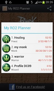 My RO2 Planner - screenshot thumbnail