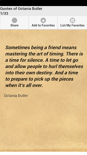 Quotes of Octavia Butler