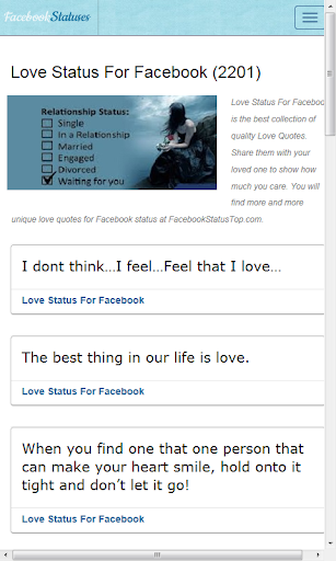 Love Status For Facebook