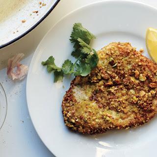 Pistachio-Crusted Chicken with Carrot Raita.
