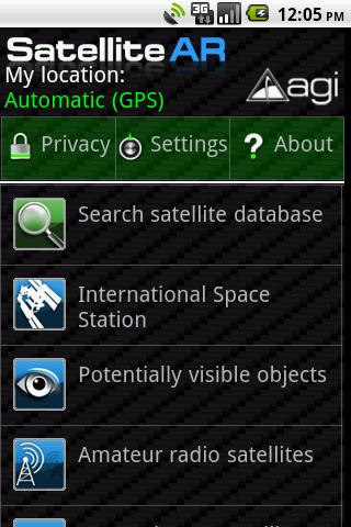 Satellite AR - screenshot