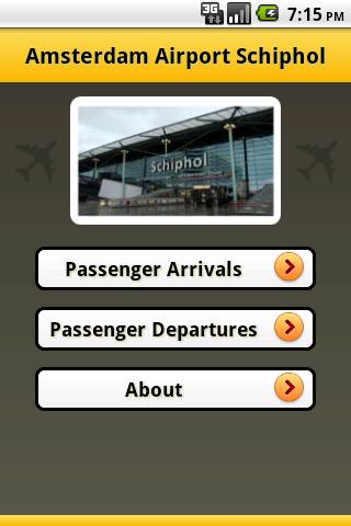Amsterdam Airport Flight Info - screenshot