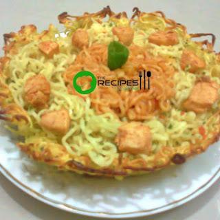 Baked Noodles Nest