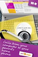 Screenshot of YouMagic free call SIP/VoIP/IP
