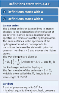 Lastest Physics, Chemistry Abr & Defs APK for Android