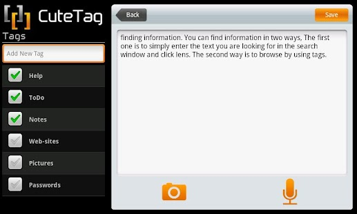 CuteTag for Tablets - screenshot thumbnail