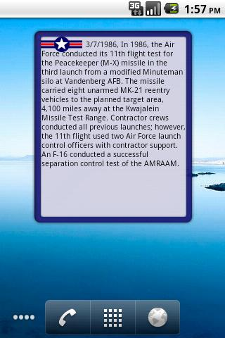 Air Force Military History - screenshot