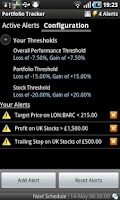 Screenshot of Portfolio Tracker (Stocks)