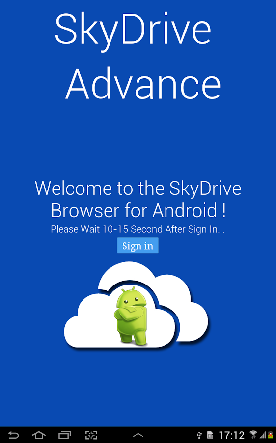 SkyDrive Advance (OneDrive) - screenshot